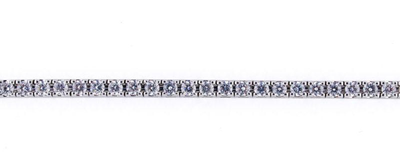 Pulsera Rivière en Oro blanco 18 quilates y Diamantes talla Brillante