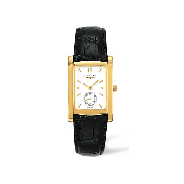 Longines-Dolce-Vita-Herrenuhr-Maxi-Gelbgold-weiss-Index L5.655.6.16.2
