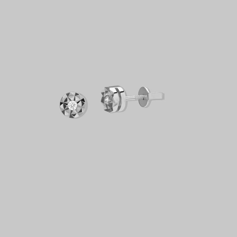 Pendientes oro blanco 18 quilates y Brillantes HSI