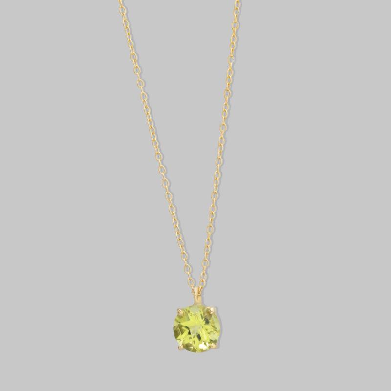 Collar oro amarillo 18 quilates con Peridoto