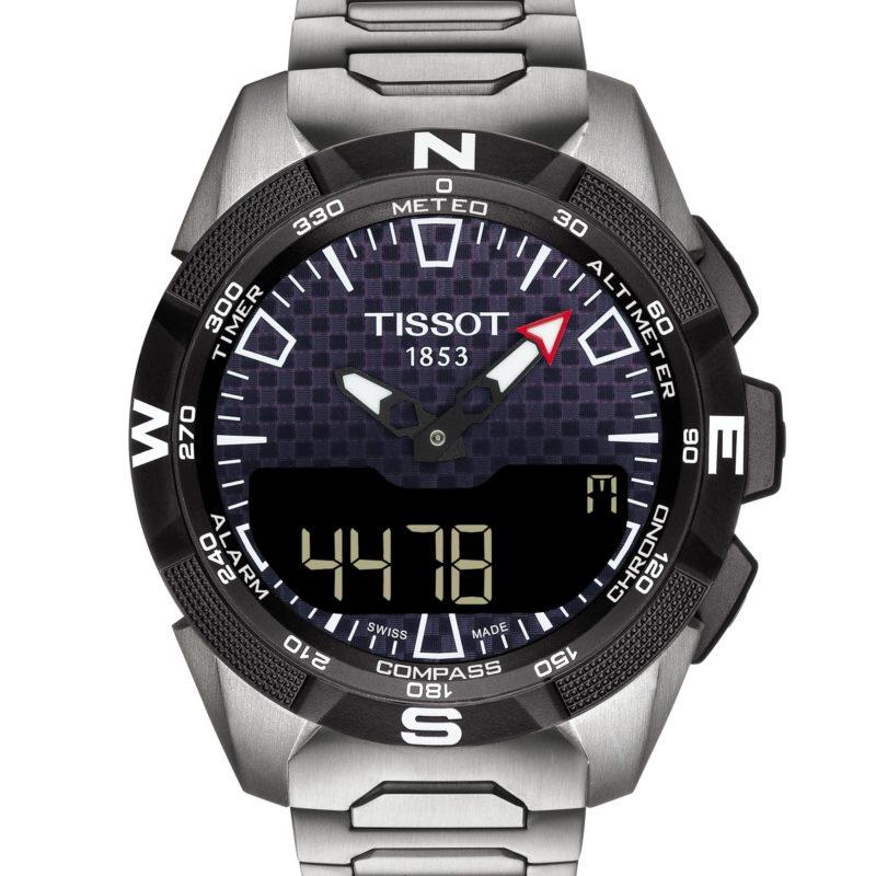 TISSOT T-TOUCH EXPERT SOLAR II 45mm T110.420.44.051.00 titanio esfera tactil cristal de zafiro movimiento de cuarzo