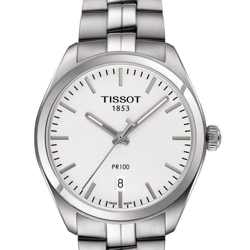 TISSOT PR 100 39mm T1014101103100 acero inoxidable cristal de zafiro irrayable movimiento de cuarzo esfera gris