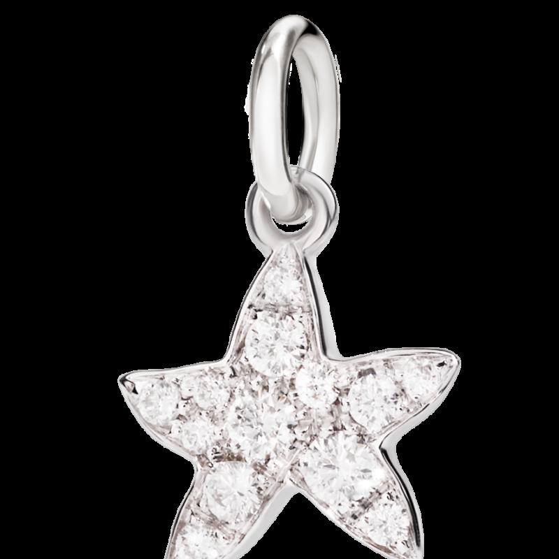 """DODO, Colgante Estrella Oro blanco 18 quilates con Diamantes """"Feliz de haberte encontrado"""""""