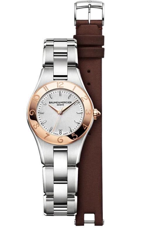 BAUME & MERCIER Linea 27mm MOA10015 27mm Reloj movimiento Cuarzo. Hermeticidad: 5 ATM (aprox. 50 m)fecha. Fabricación suiza,